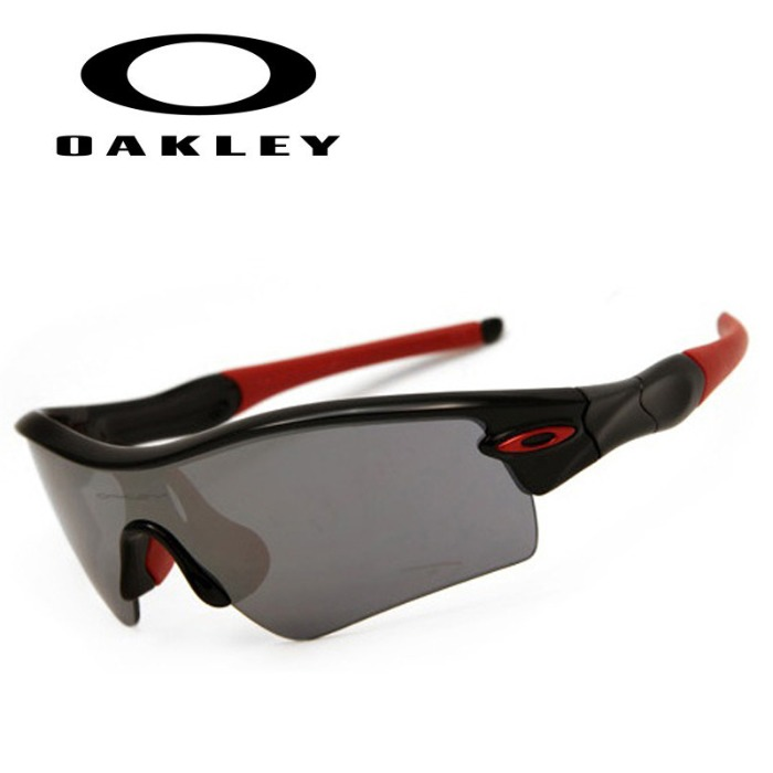 Oakley RADAR PATH Jet Black Black Iridium Red Icon