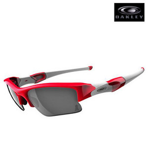 Oakley FLAK JACKET XLJ LA Angels Red/Black Iridiu/24008